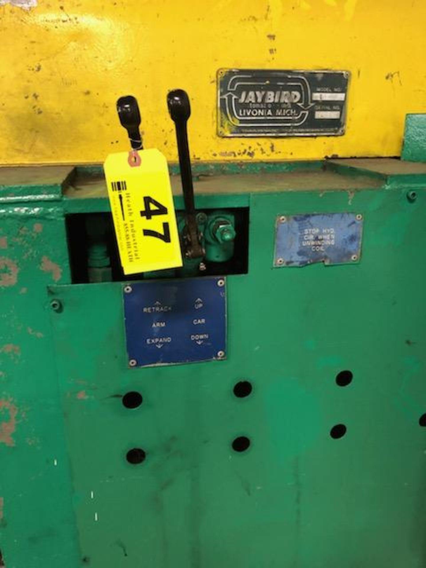 "Lot 47 - Jay Bird Model GRM10-5060 Motorized Uncoiler, Serial Number: 12428 10,000 Lbs - 60"" Width x 48"" OD -"