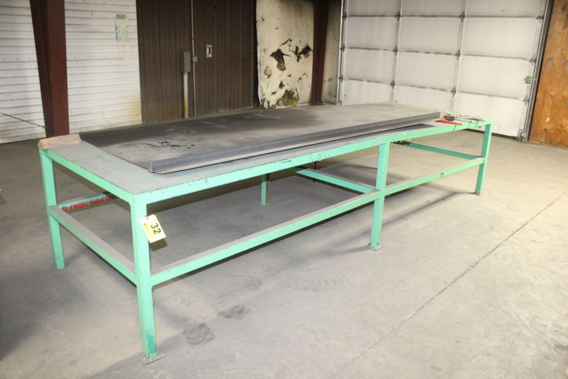 """Lot 32 - 48"""" x 144"""" x 33"""" H Heavy Duty Steel Work Table"""