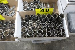 """ASSORTED 12-POINT 1/2"""" DRIVE SOCKETS IN BOX"""