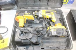 """DEWALT MODEL DC926 18V XRP 1/2"""" CORDLESS DRILL/DRIVER/HAMMER DRILL WITH (2) BATTERIES, CHARGER AND"""