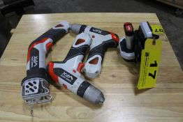 BLACK & DECKER VPR 7V CORDLESS TOOL SET WITH RECIPROCATING SAW, (2) DRILLS, BATTERY AND CHARGER