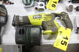 RYOBI MODEL P514 18V RECIPROCATING SAW WITH CHARGER (NO BATTERY)