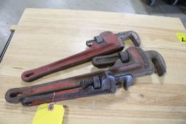 """(3) PIPE WRENCHES, 10"""" - 16"""""""
