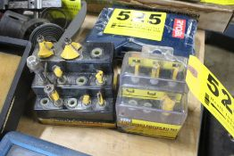 ASSORTED ROUTER BITS IN (2) RACKS