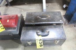 (2) STEEL TOOL BOXES, CRAFTSMAN & POWR KRAFT