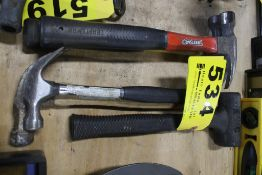 (4) CLAW HAMMERS & (1) RUBBER MALLET