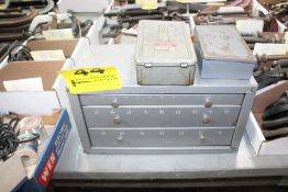 """HOUT THREE DRAWER DRILL CABINET, 15"""" X 7"""" X 8"""", WITH (2) DRILL INDEXES"""
