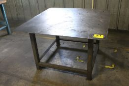 "HEAVY DUTY STEEL TABLE WITH 1/4"" STEEL TOP, 30"" X 48"" X 48"""