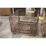 """COLLAPSIBLE STEEL WIRE BASKET, 30"""" X 41"""" X 43"""""""