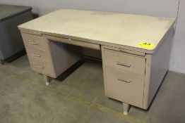 "STEEL PEDESTAL DESK, 29"" X 60"" X 30"""