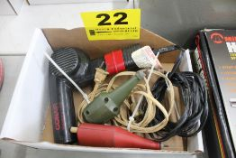 (2) ELECTRIC ENGRAVERS & HAIR DRYER