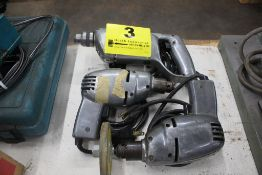 (3) ASSORTED ELECTRIC DRILLS