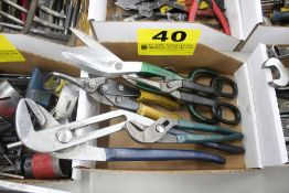 ASSORTED CHANNEL LOCKS & SHEARS IN BOX