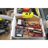ASSORTED ELECTRCIAL TEST EQUIPMENT IN BOX