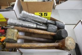 (7) ASSORTED MALLETS IN BOX