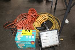 EXTENSION CORDS, PNEUMATIC HOSE & HALOGEN LIGHT