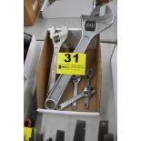 (5) ASSORTED CRESCENT WRENCHES IN BOX