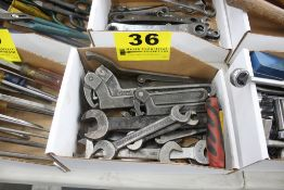 ASSORTED MACHINE WRENCHES & SPANNER WRENCHES