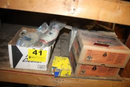 (2) CASES OF PASLODE NAILS & MISC. ON SHELF