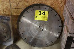 "14"" DIAMOND BLADE & (2) CORBORENDUM BLADES"