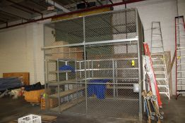 STEEL SECURITY CAGE, 10' X 10' X 10'