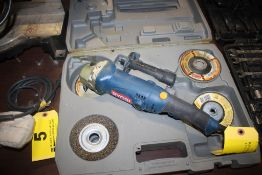 RYOBI MODEL AG452 RIGHT ANGLE GRINDER WITH CASE