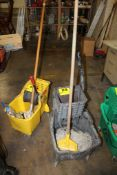 RUBBERMAID PORTABLE WASH BUCKET WITH MOP AND STRAINER