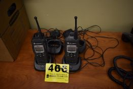 (2) MOTOROLA DTR 650 RADIOS WITH CHARGING STATIONS