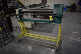 """48"""" MANUAL BENDING ROLL, ON PORTABLE STAND"""