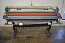 "ROYAL SOVEREIGN MODEL RSC-1650H 65"" WIDE FORMAT HEAT ASSIST COLD LAMINATOR HEATED TOP ROLLER, 122"