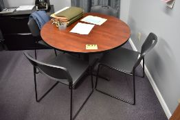 """42"""" ROUND TABLE WITH (4) CHAIRS"""