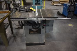 "DELTA NO. 34-814 UNISAW 10"" TILTING ARBOR TABLE SAW, 5 HP MOTOR"