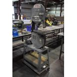 """DELTA NO. 28-275 14"""" WOODWORKING BANDSAW, MOUNTED ON PORTABLE BASE"""