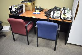 6' OFFICE TABLE, (2) SIDE CHAIRS