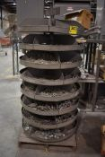 ROTABIN 8 TIER ROTARY PARTS CAROUSEL WITH ASSORTED HARDWARE