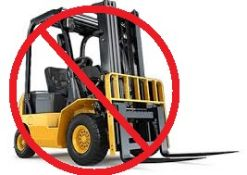 There is NO FORKLIFT ONSITE FOR LOADING