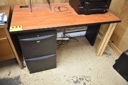 OFFICE TABLE WITH FILE CABINET, CHAIR