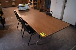 8' FOLDING TABLE WITH (3) CHAIRS