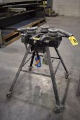 ASTRUP POWER TUBE (AWNING) BENDER, MOUNTED ON PORTABLE STEEL STAND