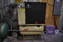 INGERSOLL RAND MODEL UP6-15CTAS-25 15 HP HORIZONTAL TANK MOUNTED AIR COMPRESSOR S/N UQ0656U09127: