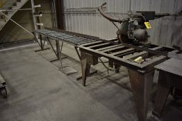 "SKIL MODEL 450 14"" RADIAL ARM SAW, WITH 10'7"" INFEED CONVEYOR"