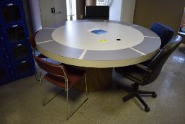 6' ROUND CAFETERIA TABLE WITH ASSORTED CHAIRS