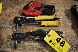 (2) HAND RIVETERS & TUBING CUTTERS