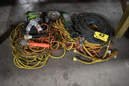LARGE QTY OF HEAVY DUTY ELECTRICAL CORDS