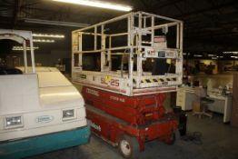 SNORKEL MODEL SL25 ELECTRIC SCISSOR LIFT, 25' MAX LIFT, 850LB. CAP