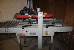 3M 3M-MATIC MODEL 100A ADJUSTABLE CASE SEALER, S/N 5325 WITH CONVEYOR