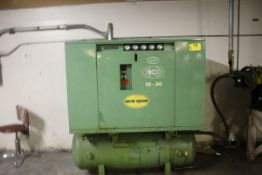 SULLAIR 10-30 ACAC ROTARY AIR COMPRESSOR, 460 VOLTS, 52,029 HOURS