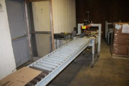 3M 3M-MATIC MODEL 100A ADJUSTABLE CASE SEALER, S/N 2066 WITH CONVEYOR