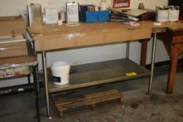"""STAINLESS STEEL TABLE, WITH BACK EDGE, 37"""" X 60"""" X 30"""""""