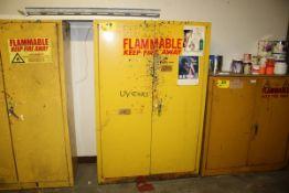 "FLAMMABLE LQUID STORAGE CABINET, 65"" X 44"" X 18"""
